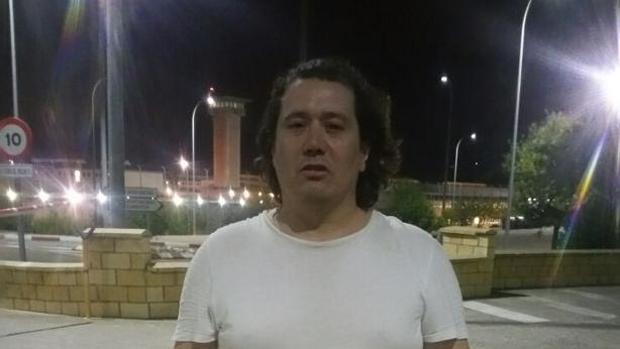 David Algaba, a la salida del centro penitenciario de Córdoba