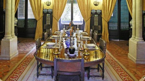 Un comedor de la Casa de la Condesa de Lebrija