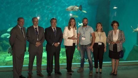 Susana Díaz y Juan Ignacio Zoido, en la inauguración del acuario