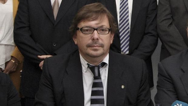 Blas Ballesteros, en un acto como presidente de la Unión de Juristas Independientes