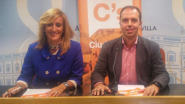 Javier Millán, durante su comparecencia en el Ayuntamiento de Sevilla para tratar las ordenanzas fiscales 2017