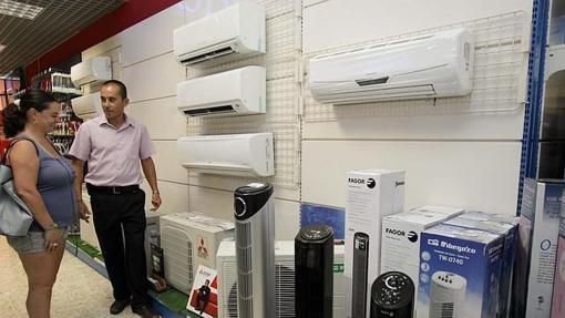 Una tienda de aire acondicionado