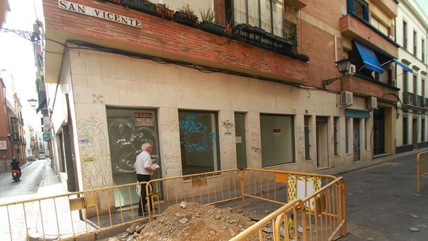 Obras en la calle San Vicente