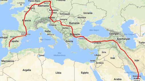 Mapa de viaje de José