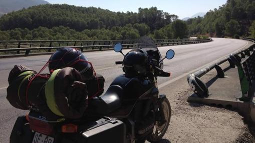 La moto de José Ruiz