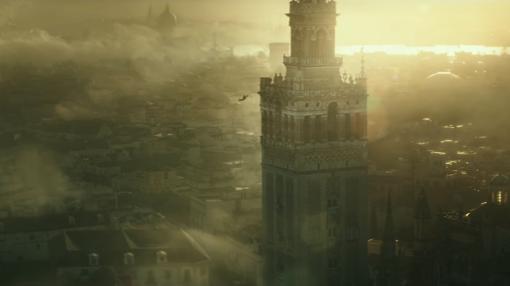 En el primer tráiler de «Assansin's Creed», el protagonista se lanzaba desde la Giralda