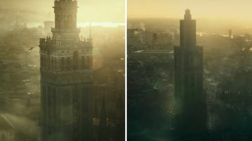 La Giralda en el primer trailer de «Assassin's Creed» junto a la que al fin se verá en los cines