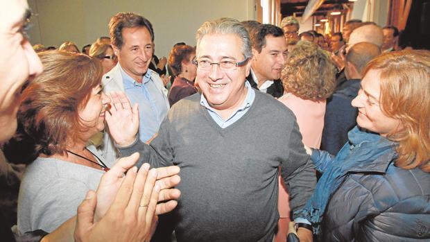 Juan Ignacio Zoido, ayer en Alcalá de Guadaíra