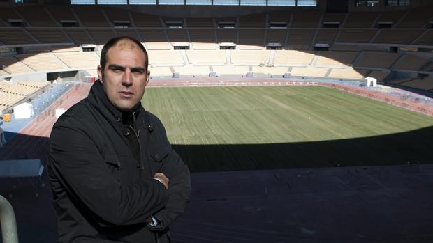Manuel Zafra, en el estadio de La Cartuja
