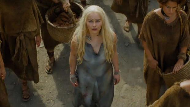 Daenerys Targarien en una escena de la serie