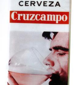 Banderola de bar de Cruzcampo