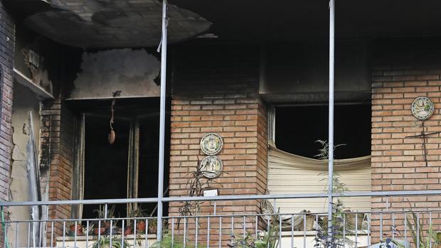 La vivienda de Virgen de la Antigua que se incendió