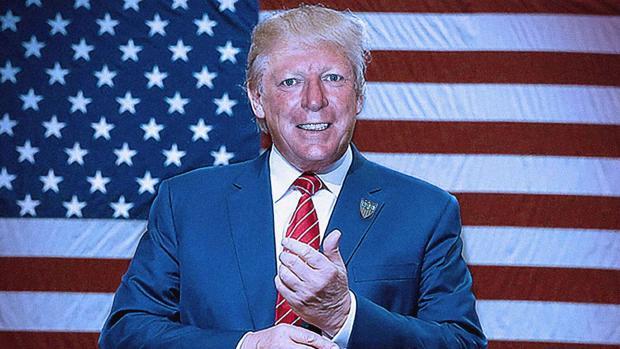 César Cadaval, de Los Morancos, como Donald Trump