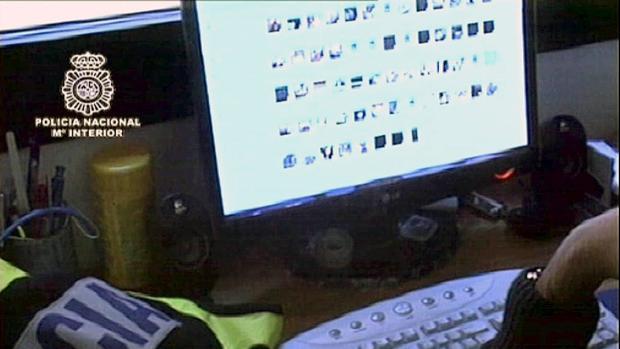 Imagen de archivo de una operación contra la pedofilia
