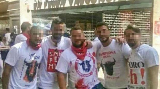 Los cinco acusados de la violación de San Fermín