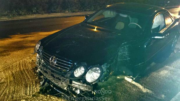 Estado en el que ha quedado el coche tras el accidente