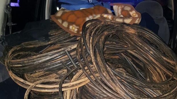 Parte del cobre recuperado en Sevilla por la Guardia Civil