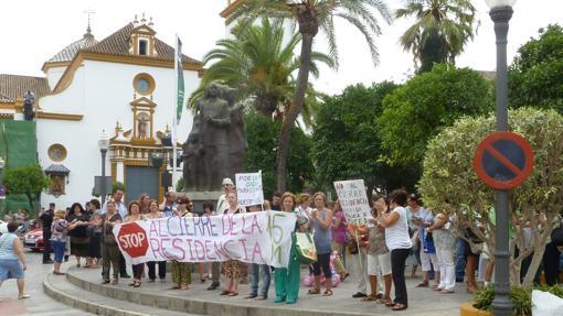 Movilizaciones contra el cierre de la residencia en 2012