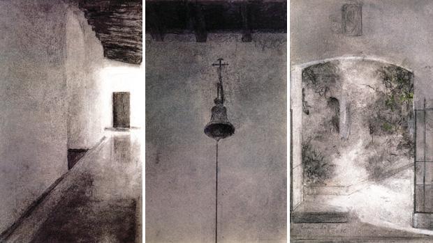 «Interior», «Campana» y «Patio», los tres grabados de Carmen Laffon para colaborar con Madre de Dios