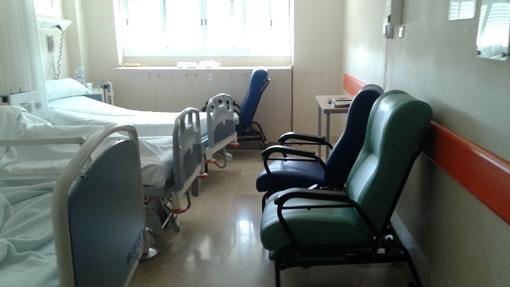 Una habitación triple en el Hospital Macarena