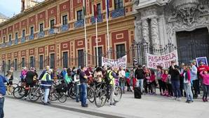 Una marcha ciclista para exigir a la Junta que cumpla los plazos con la pasarela ciclopeatonal