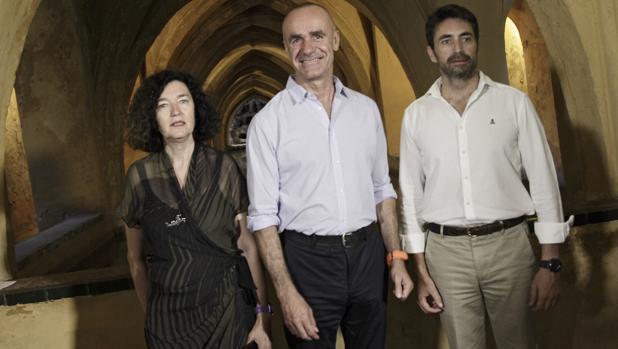 Antonio Muñoz, con Antonio Jiménez e Isabel Rodríguez