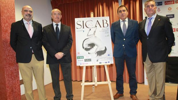 José Juan Morales, José Antonio Sollo, Alfonso Reale y José Varo, en la presentación de Sicab