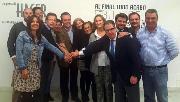 El grupo municipal del PP en el Ayuntamiento de Sevilla
