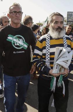 Diego Cañamero y Juan Manuel Sánchez Gordillo en la marcha