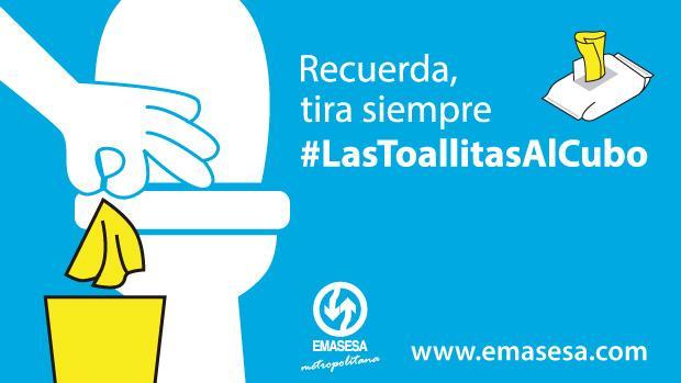 Emasesa comprometida con la campaña #lastoallitasalcubo