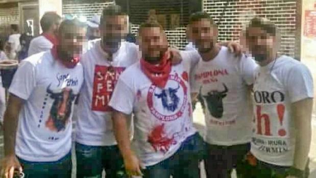 Los cinco miembros sevillanos de «La Manada» que están acusados de violar a una joven en San Fermín