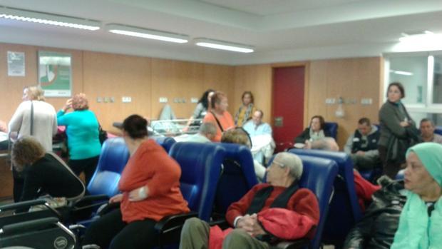 Vista de las Urgencias del Hospital General este mes de noviembre, cedida por un enfermo