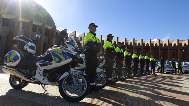 Un momento del acto que se celebró ayer en Fibes con motivo del patrón de la Policía Local