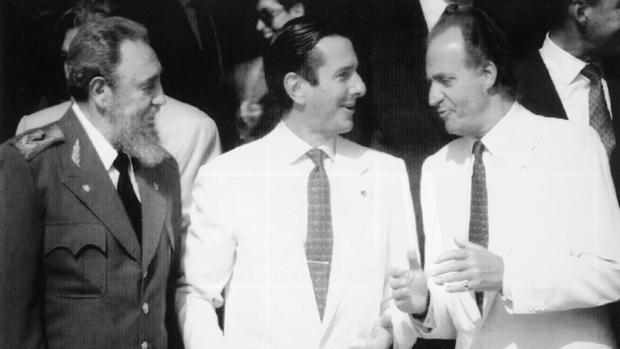 Fidel Castro, Fernando Collor de Mello y el Rey Juan Carlos en la Expo92 de Sevilla