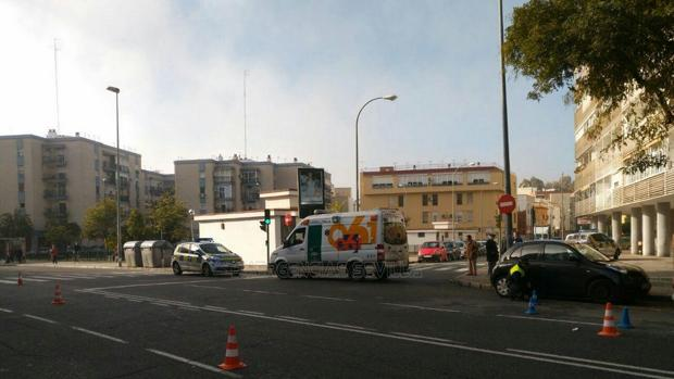 El accidente se ha producido en la Ronda de Triana