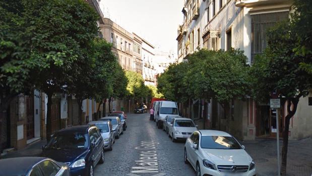 Calle Mateos Gago, en Sevilla