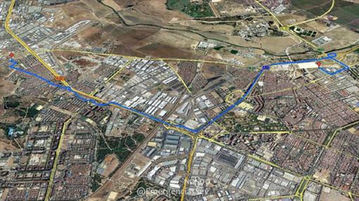 La fuga se produjo entre la avenida de la Paz y el barrio de Torreblanca