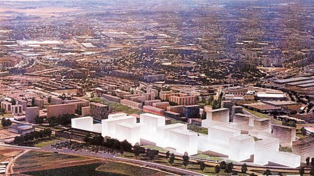 Recreación del proyecto inmobiliario en Buen Aire, frente a Santa Clara, donde se prevén 1.149 viviendas