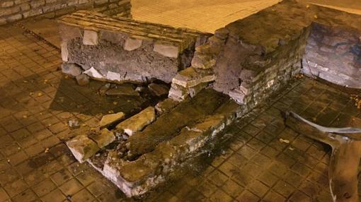 Los destrozos causados en el mobiliario urbano