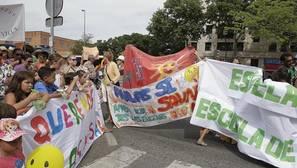 Reciente protesta de alumnos y padres contra el calor en las aulas