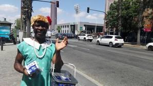 Howard Jackson este miércoles en el semáforo de Plaza de Armas