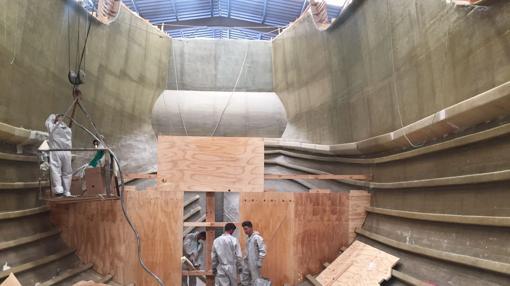 Interior de la réplica de la carabela