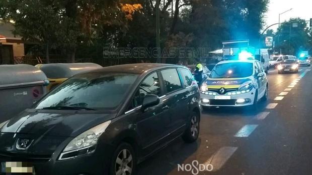 La Policía Local de Sevilla, en el lugar de los hechos