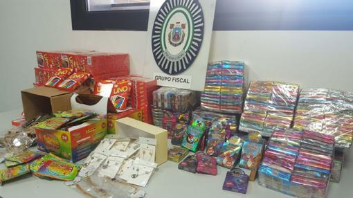Algunos de los productos incautados por la Policía