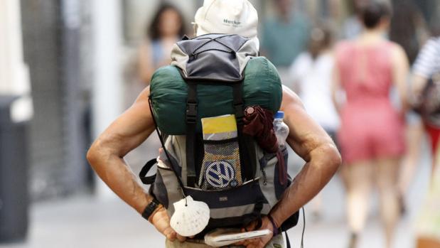 Un peregrino, durante el Camino de Santiago