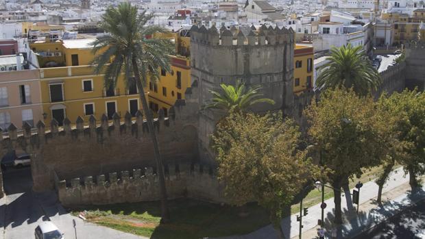 Vista aérea de la muralla de la Macarena