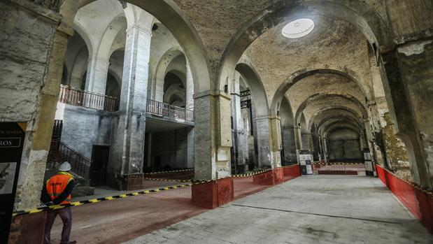 Obras de restauración en la Real Fábrica de Artillería de Sevilla