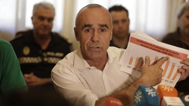 El concejal Antonio Muñoz, reunido con los responsables de las zonas verdes