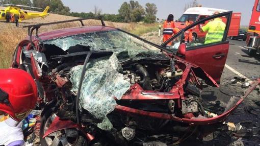 Accidente en el que murieron tres jóvenes en la N-IV