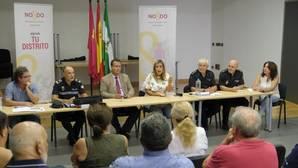 La junta de seguridad, ayer en el Distrito Norte de Sevilla